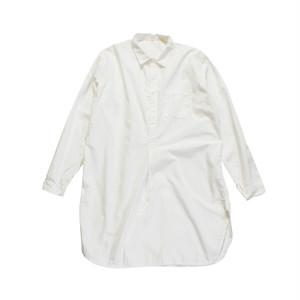 USED / Sweden Military Grandpa Shirts / REPLICA / Ladies FREE / White