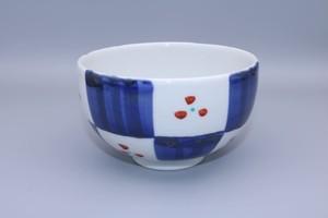 砥部焼 丸碗 市松 千山窯