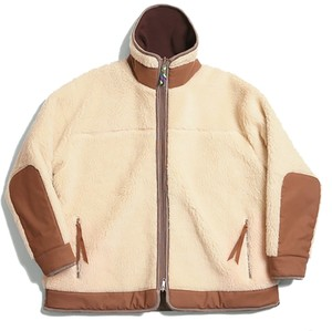 (is-ness) REVERSIBLE QUILTED FLEECE JACKET