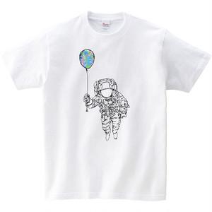 [キッズTシャツ] Space balloon