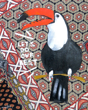 Toco Toucan / Mexican cloth / 02