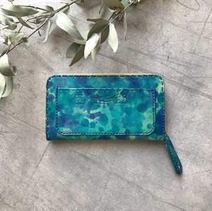 Balarm -Leather Long Wallet / Hand dyeing Blue