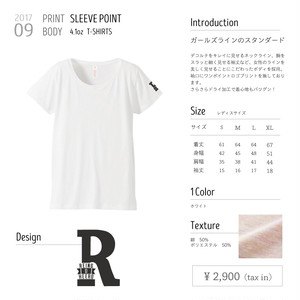 【Sleeve Point Tee】Tシャツ lady's