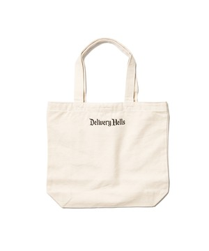 """Delivery Hells"" TOTE BAG (M)  NATURAL  19AW-DH-29"