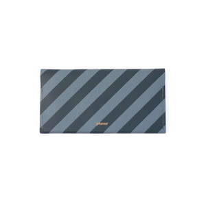 Wallet L -Grey and Black Stripes -