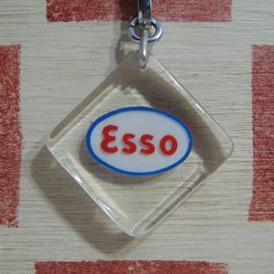 アメリカ ESSO[エッソ]ガソリンスタンドノベルティ ブルボンキーホルダー
