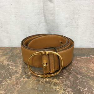 2000000003290 HERMES 90 LEATHER BELT MADE IN FRANCE/エルメスレザーベルト