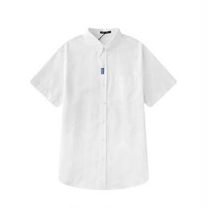 半袖シャツシンプルオーバーサイズユニセックスで着用〇送料無料