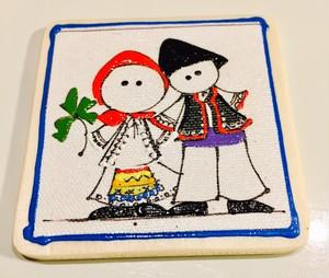 ルーマニア民族衣装イラストマグネット
