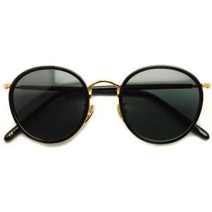 A.D.S.R. / EVANS01 エヴァンス / BLACK/GOLD (ブラック/ゴールド ラウンド ボストン サングラス )