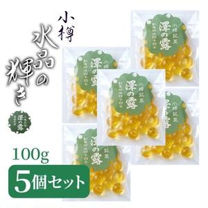 袋小【5個セット】 内容量100g×5個  澤の露『水晶あめ玉』