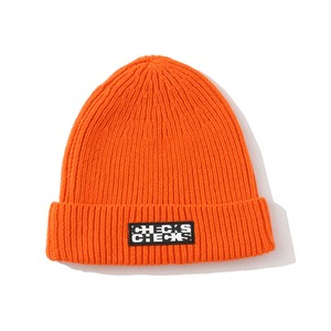 CHECKS Merino Wool Ribbed Beanie(ORANGE)