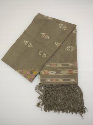 DEKIブータン産ストール17004 Wild silk 80% Cotton 20%