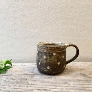 陶処風 山本直毅 ドットマグカップ 茶