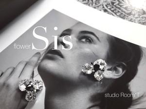【pierced earrings】flower Sis