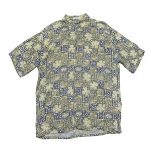 【USED】フィッシュ柄半袖シャツ