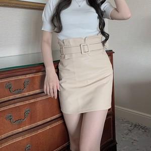 ❤︎ high waist belt skirt 3color