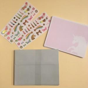 Unicorn Notecards set※ボックスなし、クリックポストOK