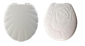 貝殻デザイン木製便座と薔薇デザイン木製便座のお得な2個セットです。