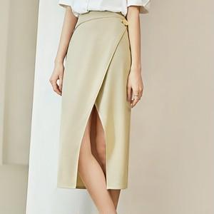 2色/シフォンラップスカート ・1943