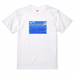 橋杭岩のTシャツ(ホワイト)