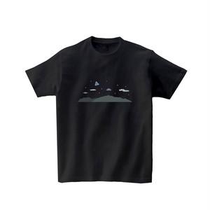 宇宙Tシャツ-UFO(黒)