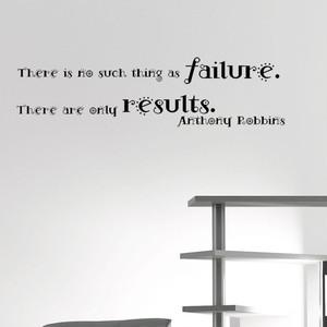 アンソニー・ロビンズのウォールステッカー 失敗などというものはない。