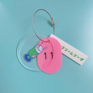 *再入荷【YURI ICHIMURA】純喫茶メロン・クリアキーホルダー (メロンクリームソーダ)
