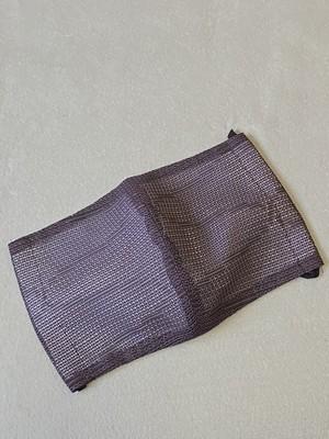 葡萄色の紋紗で作った着物リメイクマスクSサイズ☆プロの縫製技術者が作るハンドメイド立体マスク