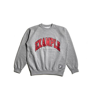 COLLEGE CIRCLE LOGO CREWNECK / GRAY