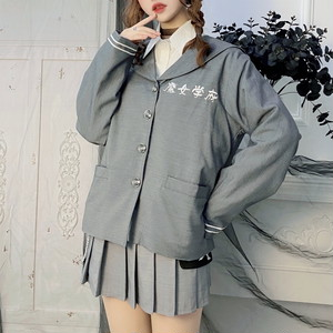 ゴスロリ系 Miub オリジナル ジャケット 女学校 制服 魔女学院 刺繍 病み可愛い 原宿系 10代 20代