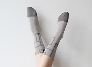 % PERCENT 靴下(春夏:ライトグレー・グレー)抗菌・防臭・吸水・通気性(男女兼用)