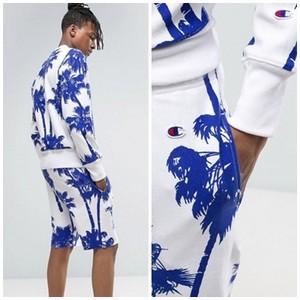 【即納】Champion Shorts With All Over Palm Print チャンピオン メンズ スエットパンツ パームツリー