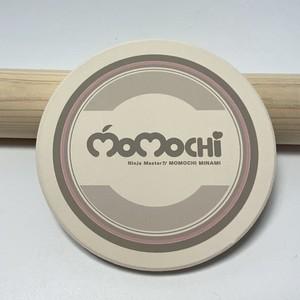 MOMOCHI ロゴ 白雲石コースター/グレー