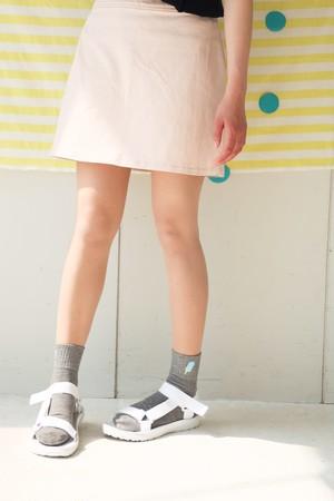 【SOLD OUT】アイスキャンディー刺繍ソックス(グレー)