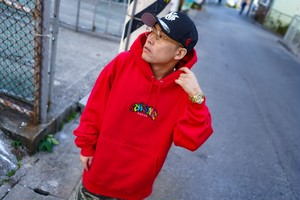4THC SQUAD Full Embroidery Parka (Red)