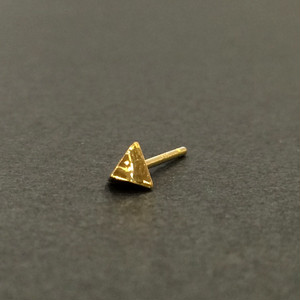 Baby-Baby stud earring - Triangle-Scoop/シングルピアス