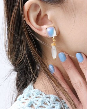 GIVENCHY moon stone earrings