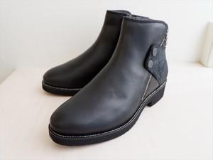 軽量幅広ショートブーツ ブラック H3.5cm
