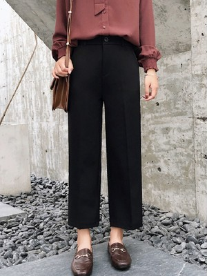 【bottoms】Simple and comfortable wide leg pants