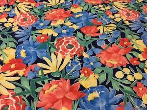 【オーダーメイド】花柄 ブルー ワンピース