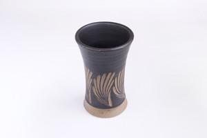 【受注生産対応】クバ結紋 フリーカップ 黒