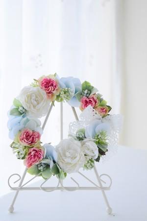 【W003】バラとハイドランジアの小さなリース