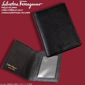 サルヴァトーレ・フェラガモ:カーフレザー製カードケース兼パスケース/ブラック/JG-22 9363/SalvatoreFerragamo