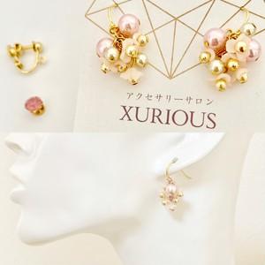 【イヤリング変更無料】桜満開のピンクのピアス