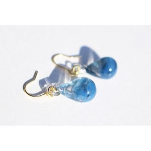 drop glass pierce #blue
