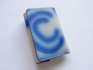 チビ財布 赤青染め type2