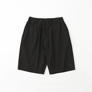 STRECHED SAROUEL SHORT PANTS - BLACK
