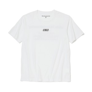 PRINTED T-SHIRT 'WM' - WHITE