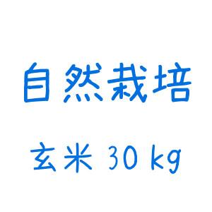 雪どけ米(自然栽培)玄米 30kg
